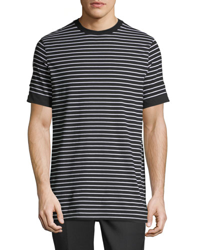 Breton Striped Roll-Cuff T-Shirt