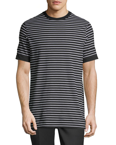 Neil Barrett Breton Striped Roll-Cuff T-Shirt