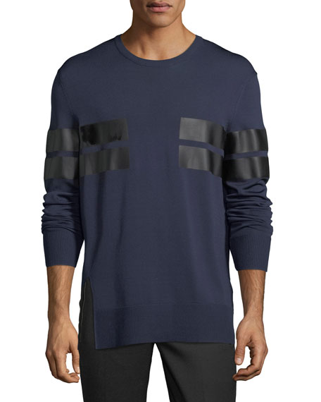 Reflective Stripe Long-Sleeve T-Shirt