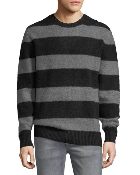 Men's Freddy Stripe Sweater w/ Zip Cuffs