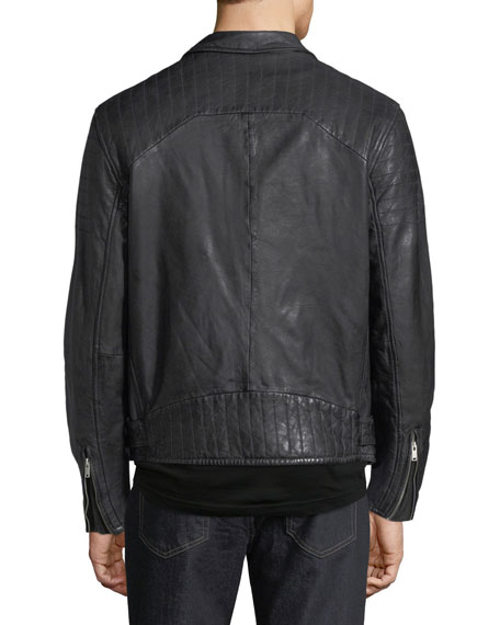 Men's Hunt Lamb Leather Motorcycle Jacket