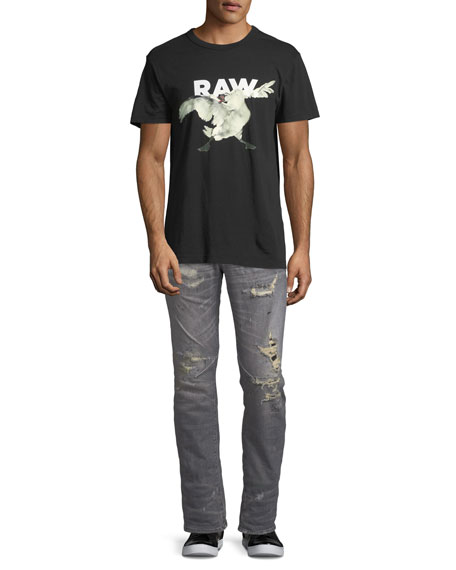 Re D-Staq Distressed Tapered Jeans