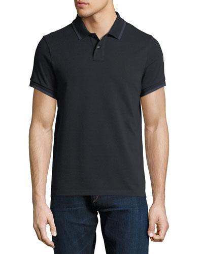 Contrast-Tipped Logo Polo Shirt