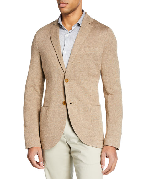 Loro Piana Cashmere-Blend Piqu??-Knit Jacket