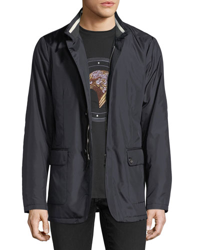 Water-Resistant Silk Jacket