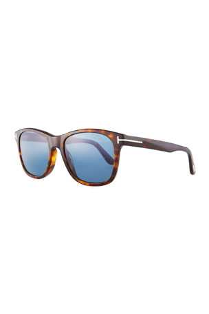 TOM FORD Eric Rectangular Havana Sunglasses