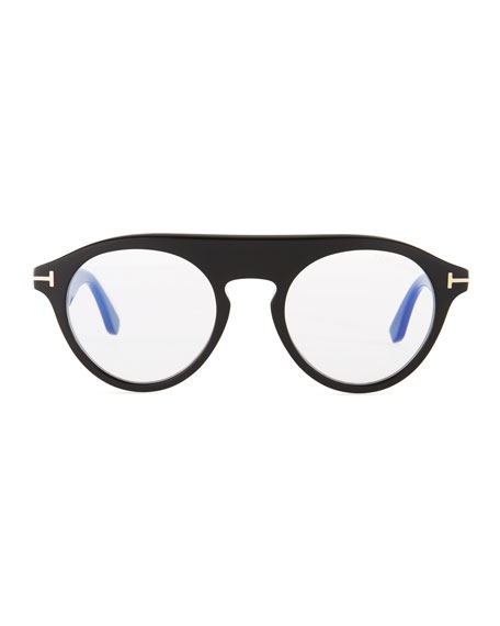 Christopher Round Acetate Optical Glasses