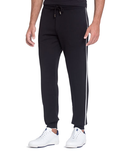 Contrast Track-Stripe Jogging Pants