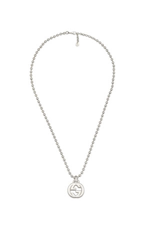 Gucci Men's Interlocking GG Pendant Necklace