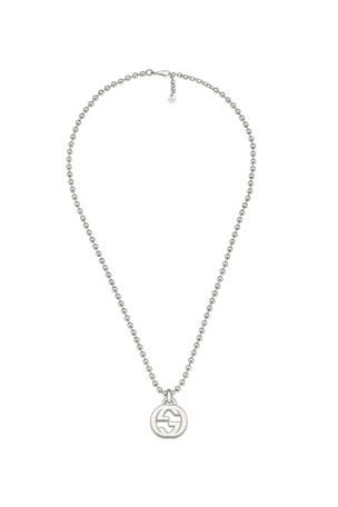 Gucci Men's Interlocking GG Pendant Necklace