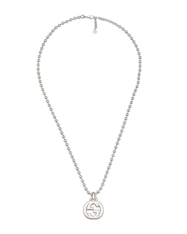 Gucci Men S Interlocking Gg Pendant Necklace Neiman Marcus