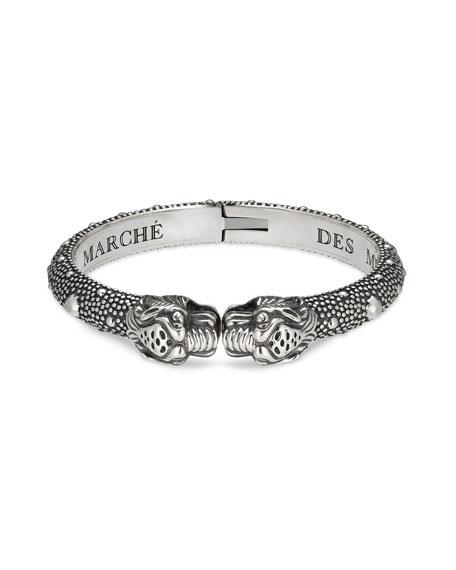 Gucci Men's Tiger Head Cuff Bracelet