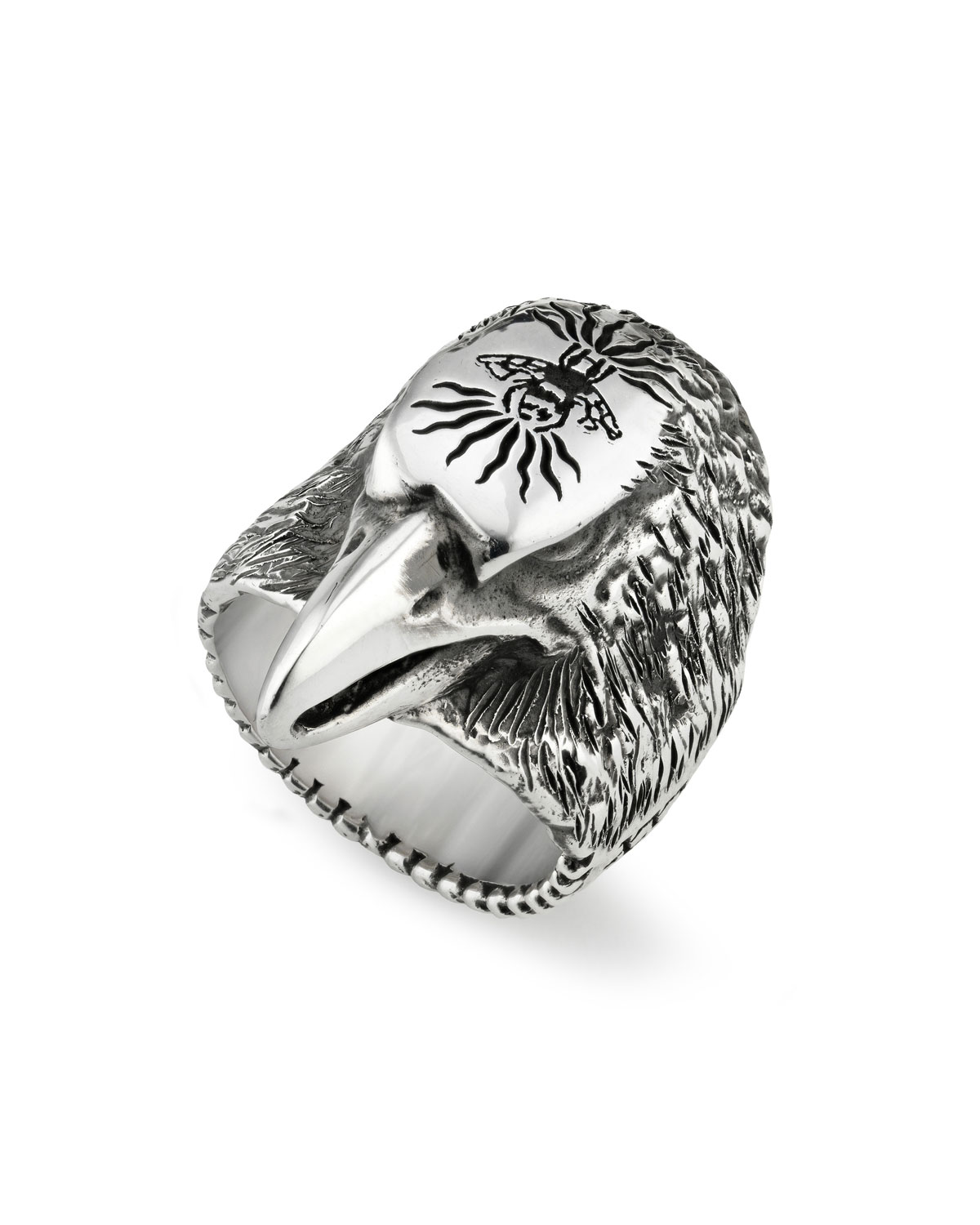 Eagle Head Sterling Silver Ring Gucci EomWOEU6l