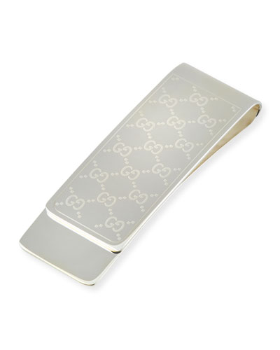 Embossed GG Logo Money Clip