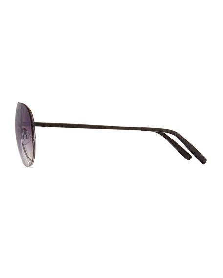 Men's Arris Half-Rim Aviator Sunglasses