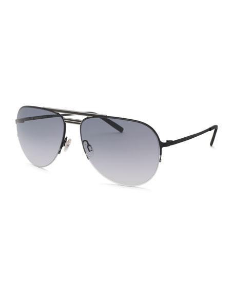 Barton Perreira Arris Half-Rim Aviator Sunglasses