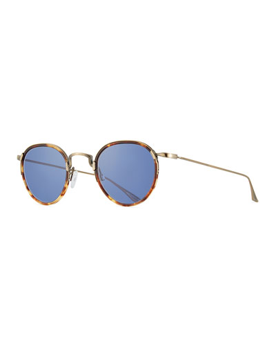 Aalto Matte Metal Sunglasses, Brown