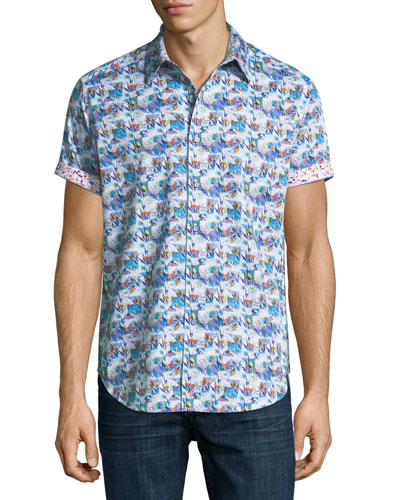 Travey Woven Short-Sleeve Shirt