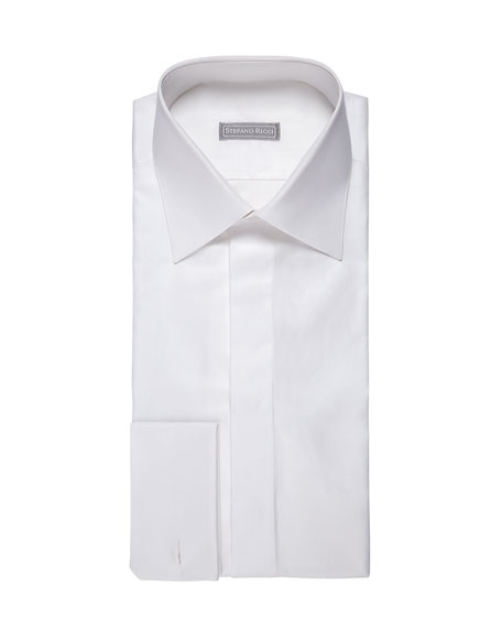 Solid Pique Dress Shirt