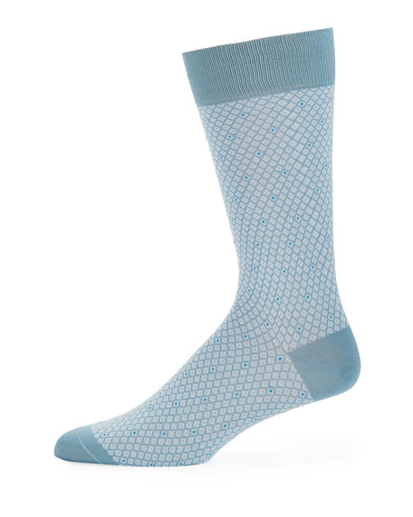 Pantherella Dalby Diamond Cotton-Blend Socks