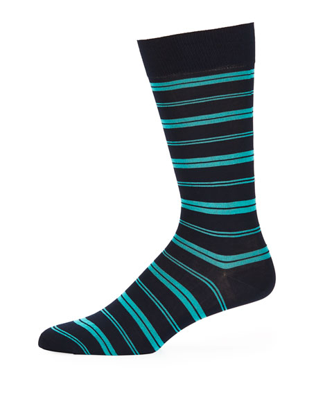 Pantherella Saba Striped Cotton-Blend Socks