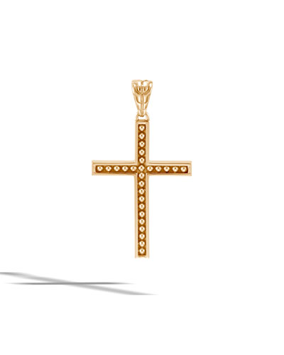 Men's Classic Chain 18k Cross Pendant