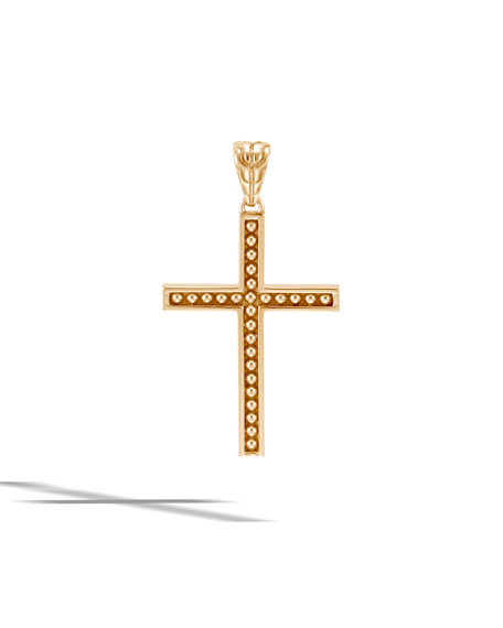 John Hardy Men's Classic Chain 18k Cross Pendant