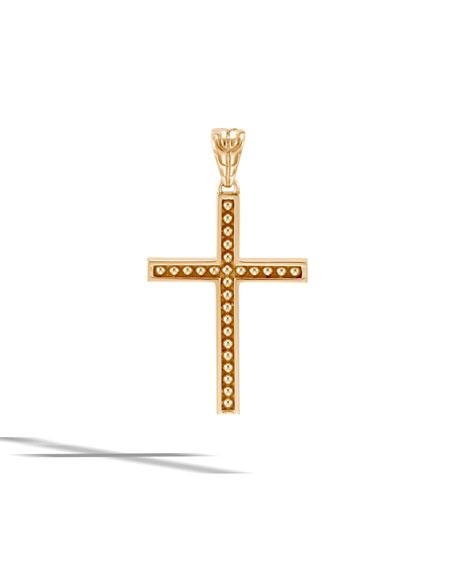 Men's Classic Chain 18k Cross Pendant