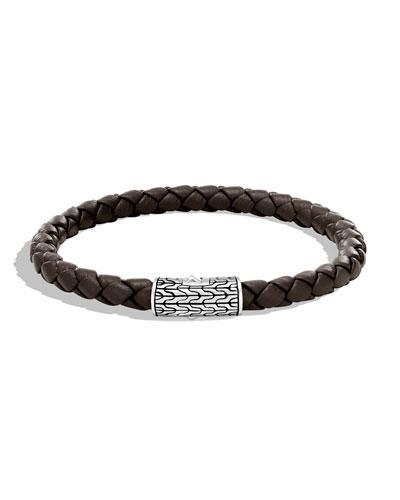 Men's Classic Chain Woven Bracelet, Brown