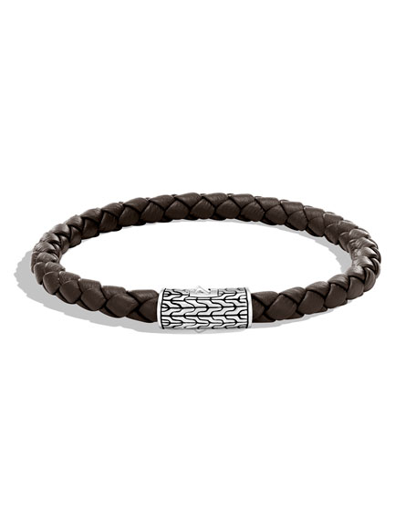 John Hardy Men's Classic Chain Woven Bracelet, Brown
