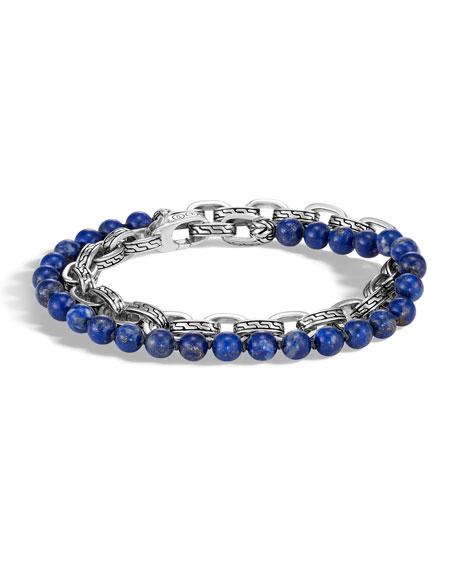 John Hardy Men's Classic Chain Double-Wrap Bracelet, Lapis
