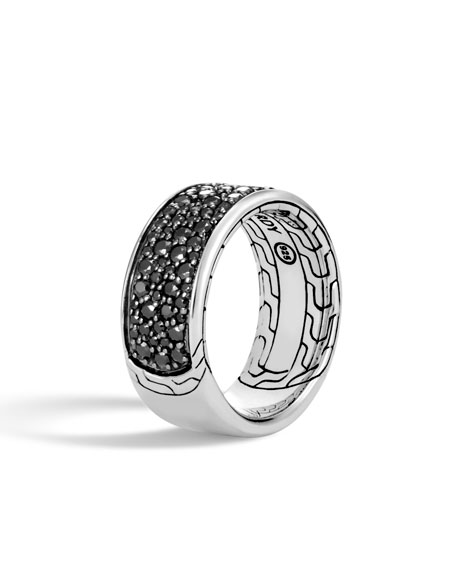John Hardy Mens Classic Chain Sapphire & Spinel Ring sIx2ROdccM