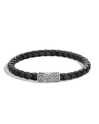 Men's Classic Chain Woven Bracelet, Black