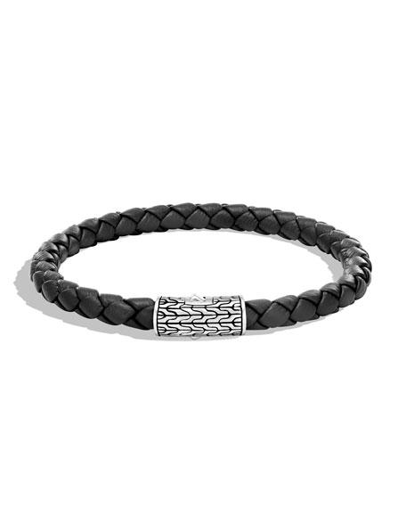 John Hardy Men's Classic Chain Woven Bracelet, Black