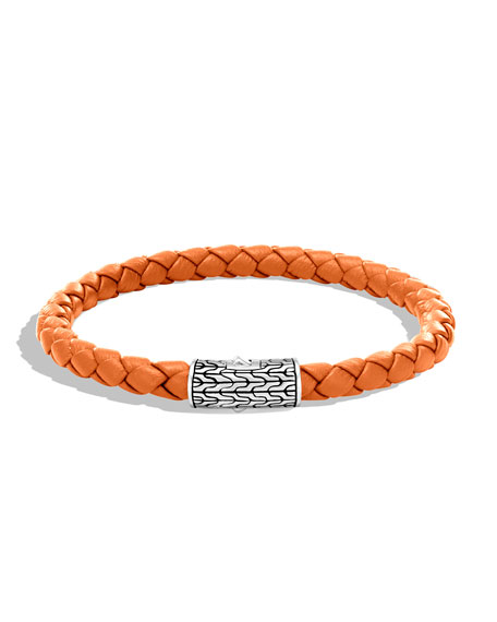 John Hardy Men's Classic Chain Woven Bracelet, Orange