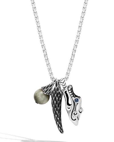 Men's Legends Triple-Pendant Necklace
