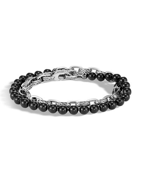 Men's Classic Chain Double-Wrap Bracelet