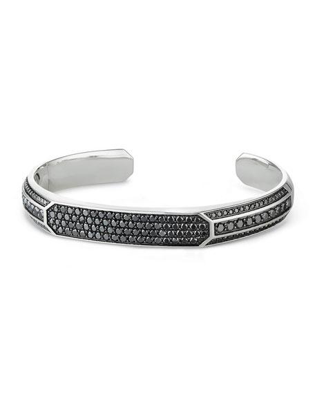 Heirloom Men's Cuff Bracelet with Black Diamonds