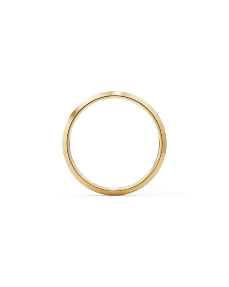 Streamline Men's 4mm 18K Gold Band Ring