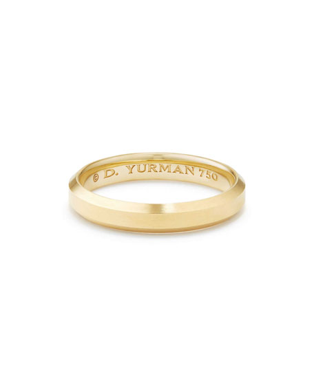David Yurman Streamline Men's 4mm 18K Gold Band