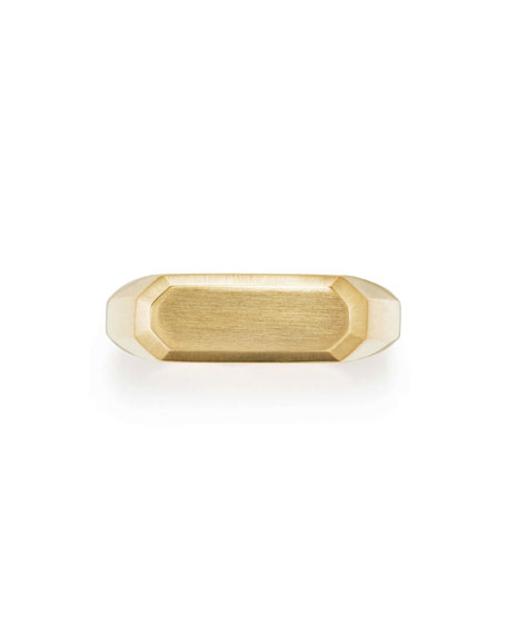 Men's Streamline 18k Gold Signet Ring
