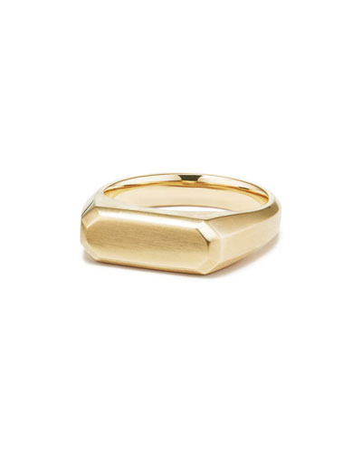 Men's Streamline 18k Gold Signet Ring