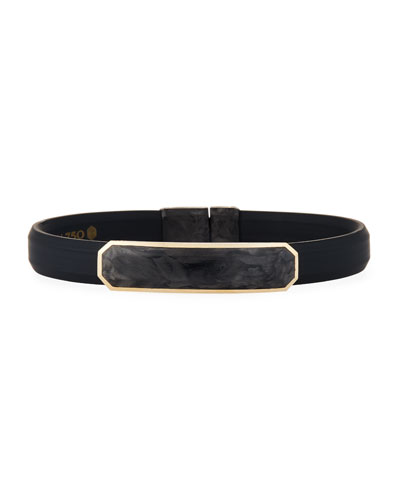 Men's Rubber Bracelet with Forged Carbon