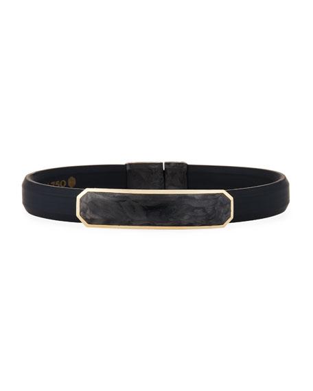 Men's Rubber Bracelet with Forged Carbon