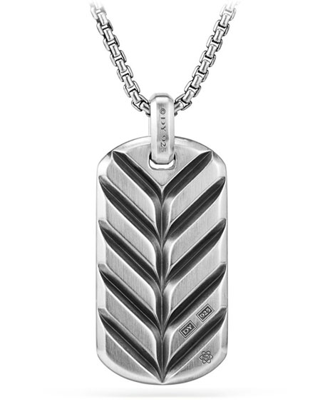 Men's Exotic Stone Dog Tag in Pietersite, 42mm