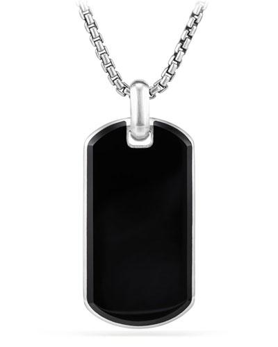 Men's Exotic Stone Tag in Black Onyx, 42mm
