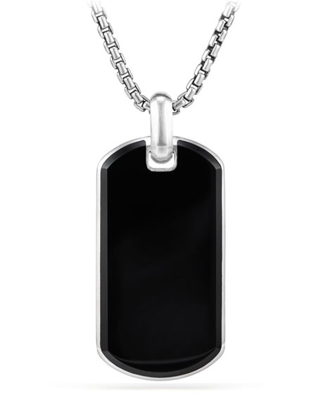 Men's Exotic Stone Tag in Black Onyx, 42mm