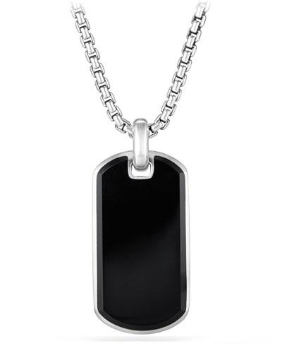 Men's Exotic Stone Tag in Black Onyx, 35mm