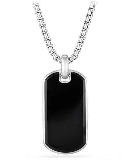 David Yurman Men's Exotic Stone Tag in Black