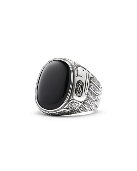 David Yurman Northwest Black Onyx Signet Ring